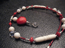 Red Holiday Love Necklace by sampdesigns