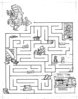 OLD WORK - Library Maze by Inkthinker