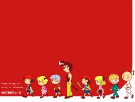 Wallpaper- MOTHER 1+2 by StarEspeon