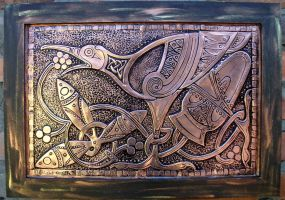 Celtic Bird on Copper by CacaioTavares
