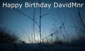 Happy Birthday Davidmnr by Ambruno