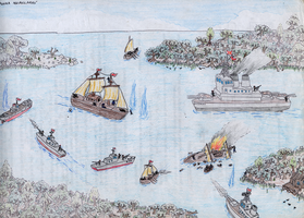 Naval Battle of Aguasclaras by Shabazik