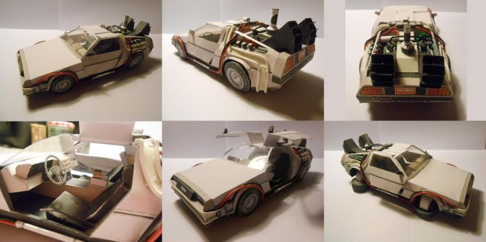 Back to the Future II Delorean Papercraft by gardevoir7