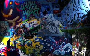 Graffiti Wallpaper by gracegg