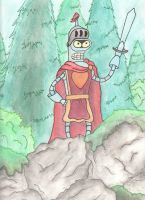 Bender as Titanius Anglesmith! by owlmaddie