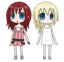 Kairi and Namine by Iceling