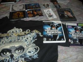 Some of my MJ collection that I have with me. by BlueRosePetalsQueen