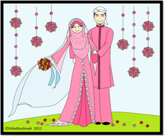 Married muslim couple by littleMuslimah