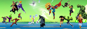 Dragon Ball vs Superheros Comics 2nd preview by JayC79