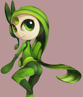 Meloetta In Shego's Suit Apparently by TheBoogie