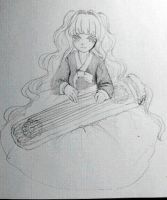 SeeU and gayageum by eddie3399