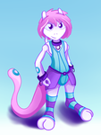 Mewtwo Femby Fursona - Art Trade with u/Mew2MewTwo by 041744