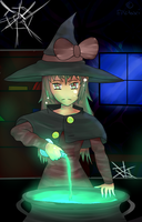 The witch and the cauldron by EpicTaxi