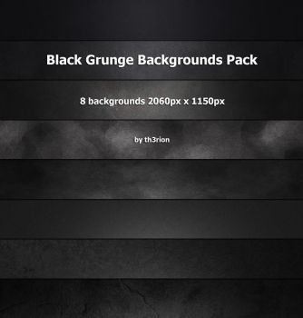 Black Grunge Backgrounds Pack by th3rion