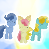 Request- Archer, Opal Bloom, and Sun Glimmer by ChanceyB