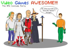 Video Games Awesome RPG Party by SalmirAeon