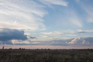 Evening Sky Field by ManicHysteriaStock