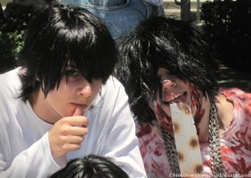 AX 2011 DeathNote L and BB by broken-with-roses