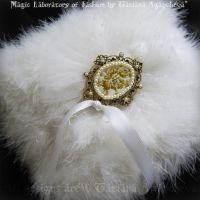 WHITE ANGEL Ring Bearer Pillow by TianaChe