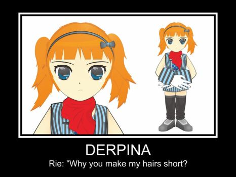 Rie cosplaying Derpina by rifatila