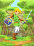 A Link Between Worlds (version a color) by Endial64