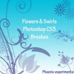 flowers and swirls CS3 brushes by Phoenix-Experiments