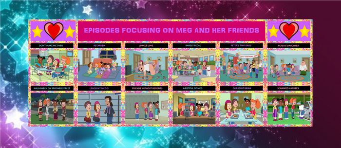 Episodes focusing on Meg and her friends by Hazlamsaurus