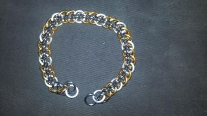 MLP Themed Derpy Hooves Chainmail Bracelet-1 by TheGiantsnoll