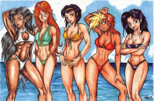 ANIME BEACH GIRLZ by vicrosman