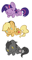 Chibi ponies for ONLY $3 by ShilaDaLioness