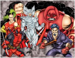 X-force Villains Rob Liefeld by pascal-verhoef
