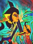 TMNT 2012 Leo and Karai by wrightmother