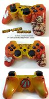 Borderlands Psycho PS3 Controller by Edge-Works