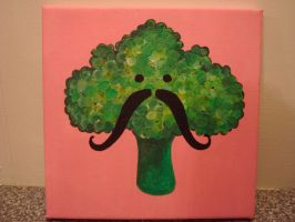 Broccoli with a moustache by heida90