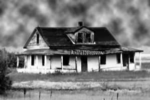 Distant Exit Aged Torn House by LovinDigital