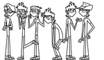 Total Drama Multiple Mike Line Art by evagimxo