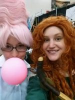 merida and my waitress. by metal-otaku