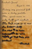 Rorschach's Journal: Puddles by LastRyghtz