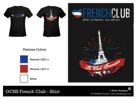 OCHS French Club Shirt - Back by mirako-hikaru