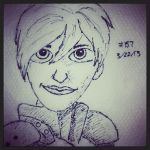 Napkin Art 157 - Sergeant Calhoun - Wreck-It Ralph by PeterParkerPA