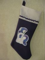Rarity Christmas Stocking by Anthro7