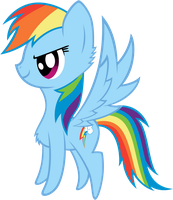 Rainbow Dash The Fluffy by Scourge707