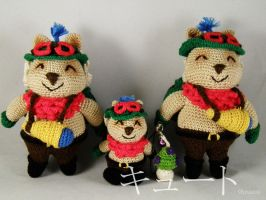 Teemo trio (Cuddlytoy and keychain) by pink-butterfly-crack