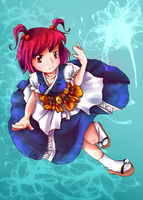 Touhou -  White flower Komachi by arence