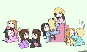 SNSD - Soshi Animals (Colored) by Kle95