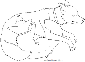 Canine Cuddles Template by corgiporgi