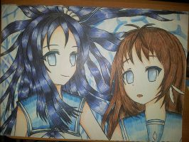 Chisaki and Manaka by alexanong