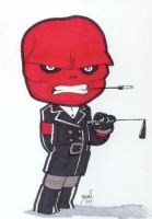 Chibi-Red Skull. by hedbonstudios