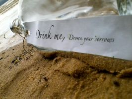 Drink me, Drown your sorrows 2 by Petpettails123