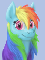 Suddenly Rainbow Dash by Breadworth
